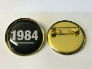 Black and White 1984 Lapel Pin Badge 25mm 1inch