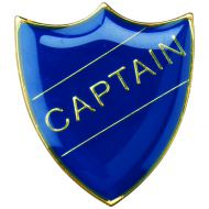 School Shield Badge (Captain) Blue 1.25in