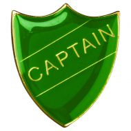School Shield Badge (Captain) Green 1.25in