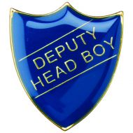 School Shield Badge (Deputy Head Boy) Blue 1.25in
