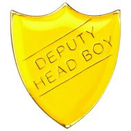 School Shield Badge (Deputy Head Boy) Yellow 1.25in