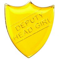 School Shield Badge (Deputy Head Girl) Yellow 1.25in