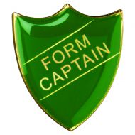 School Shield Badge (Form Captain) - Green 1.25in