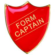 School Shield Badge (Form Captain) - Red 1.25in