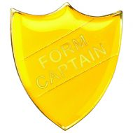 School Shield Badge (Form Captain) - Yellow 1.25in