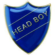 School Shield Badge (Head Boy) Blue 1.25in