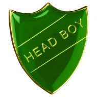 School Shield Badge (Head Boy) Green 1.25in