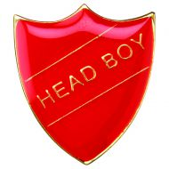 School Shield Badge (Head Boy) Red 1.25in