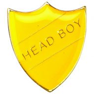 School Shield Badge (Head Boy) Yellow 1.25in