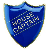 School Shield Badge (House Captain) - Blue 1.25in