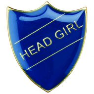 School Shield Badge (Head Girl) Blue 1.25in