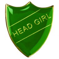 School Shield Badge (Head Girl) Green 1.25in