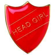 School Shield Badge (Head Girl) Red 1.25in