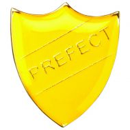 School Shield Badge (Prefect) Yellow 1.25in