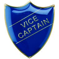 School Shield Badge (Vice Captain) Blue 1.25in