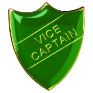 School Shield Badge (Vice Captain) Green 1.25in