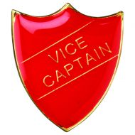 School Shield Badge (Vice Captain) Red 1.25in