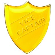 School Shield Badge (Vice Captain) Yellow 1.25in