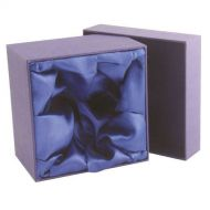Blue Presentation Box Fits 1 Wine/2 Whiskey/2 Brandy