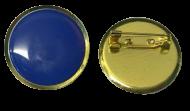Plain Blue Lapel Pin Badges 25mm House School Merit Various Colours