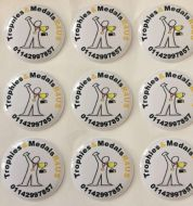 Trophy and Medal Customised Centres 2.5cm Football, Cricket, Golf