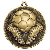 Football Deluxe Medal Antique Gold 2.35in : New 2019