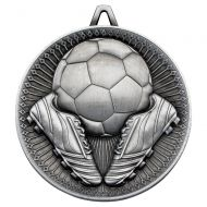 Football Deluxe Heavy Medal Antique Silver 2.35in : New 2019