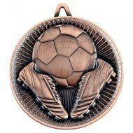 Football Deluxe Heavy Medal Bronze 2.35in : New 2019
