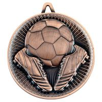 Football Deluxe Medal Bronze 2.35in : New 2019