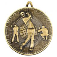 Golf Deluxe Medal Antique Gold 2.35in : New 2019