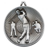 Golf Deluxe Medal Antique Silver 2.35in : New 2019