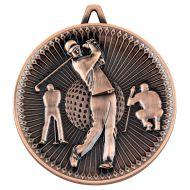 Golf Deluxe Medal Bronze 2.35in : New 2019