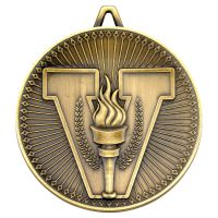 Victory Torch Deluxe Medal Antique Gold 2.35in : New 2019