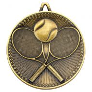 Tennis Deluxe Medal Antique Gold 2.35in : New 2019
