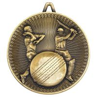 Cricket Deluxe Medal Antique Gold 2.35in : New 2019