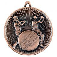 Cricket Deluxe Medal Bronze 2.35in : New 2019