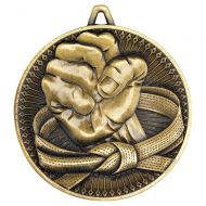 Martial Arts Deluxe Medal Antique Gold 2.35in : New 2019