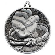 Martial Arts Deluxe Medal Antique Silver 2.35in : New 2019