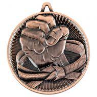 Martial Arts Deluxe Medal Bronze 2.35in : New 2019