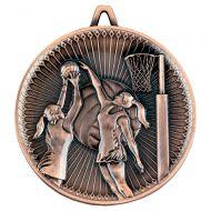 Netball Deluxe Medal Bronze 2.35in : New 2019