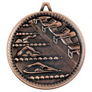 Swimming Deluxe Medal Bronze 2.35in : New 2019
