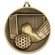 Hockey Deluxe Medal Antique Gold 2.35in : New 2019