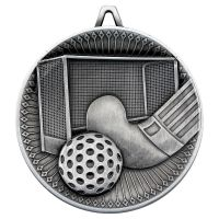 Hockey Deluxe Medal Antique Silver 2.35in : New 2019