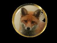 Fox Lapel Pin Badge 25mm