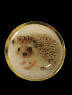 Hedgehog Lapel Pin Badge 25mm