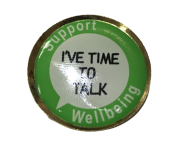Support Wellbeing - Mental Health - 25mm Lapel Pin Badge - BE KIND - NHS Helper