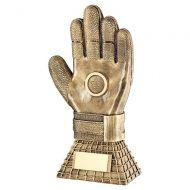 Bronze Gold Football Goalkeeper Glove On Net Base Trophy Award 10in : New 2020