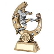 Bronze Pewter Male Flying Volley Figure with Silver Stars Trophy Award 9.25 : New 2020