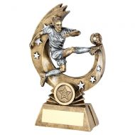 Bronze Pewter Female Womens Flying Volley Figure with Silver Stars Trophy Award 7in : New 2020
