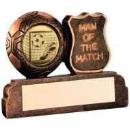 Bronze/Gold Resin Football Man Of The Match Trophy 2.5in